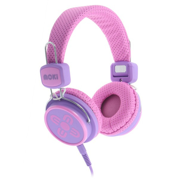 Moki Kid Safe Volume Limited Pink & Purple Headphones