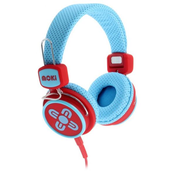 Moki Kid Safe Volume Limited Red & Blue Headphones