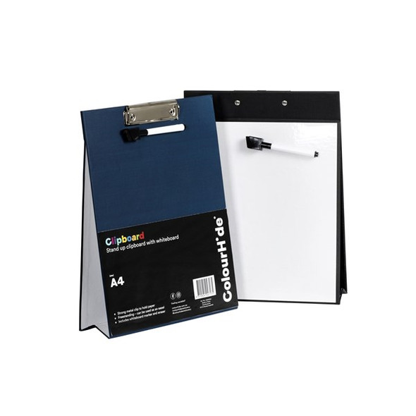 Colourhide Clipboard A4 With Marker And Eraser Navy