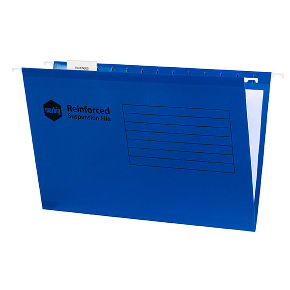Marbig Reinforced Suspension File Complete Blue Box 25