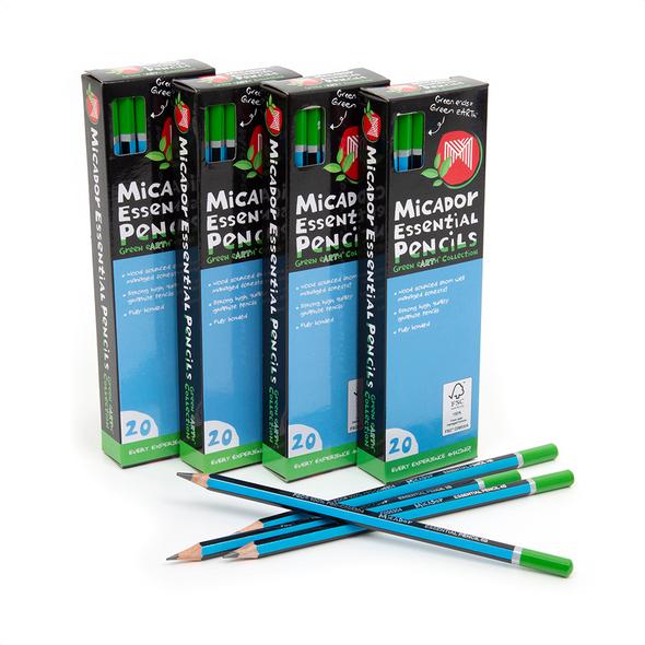 Micador Essential Pencils FSC 100% - 2B Pack 20