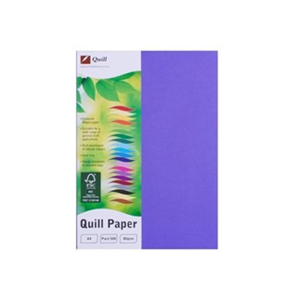 Quill Paper 80GSM A4 Pack 500 - Lilac