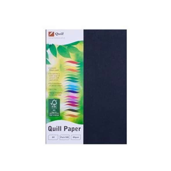Quill Paper 80GSM A4 Pack 500 - Black