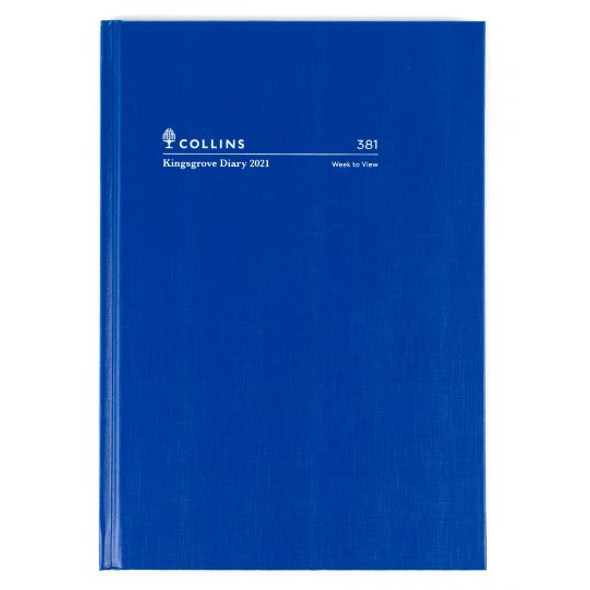 Collins Kingsgrove Diary 2021 A5 Week To A View Blue