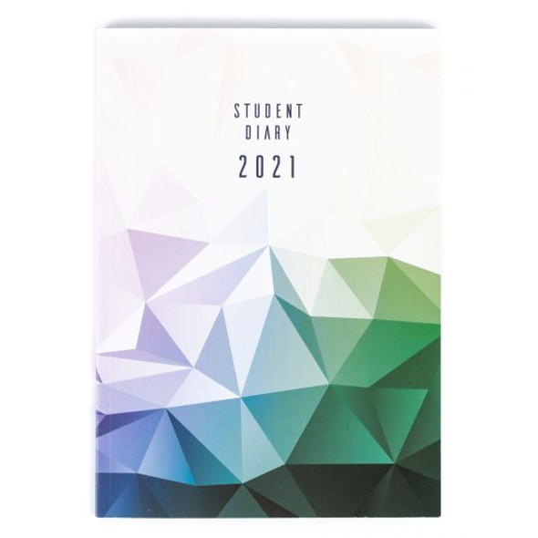 Collins Colplan Student Diary 2021 A5 Week To A View - Geo Triangle