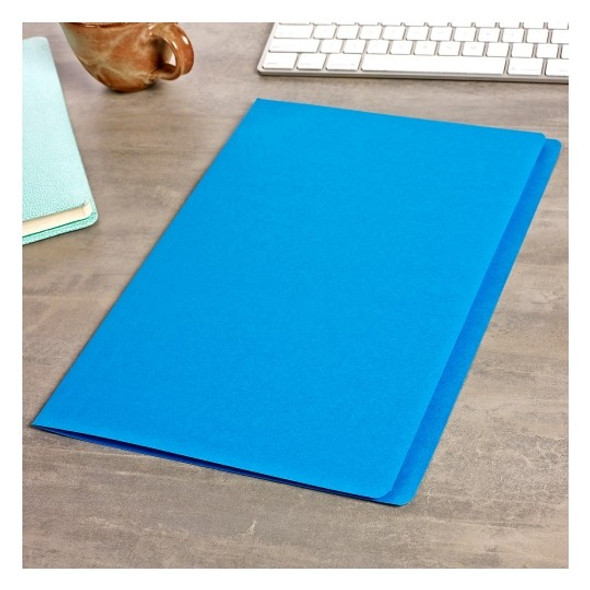 Avery 81522 Manilla Folders Foolscap Blue Box 100