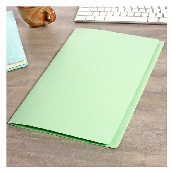 Avery 81533 Manilla Folders Foolscap Light Green  Box 100
