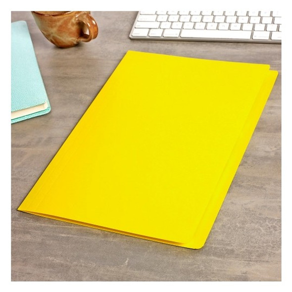 Avery 81542 Manilla Folders Foolscap Yellow Box 100