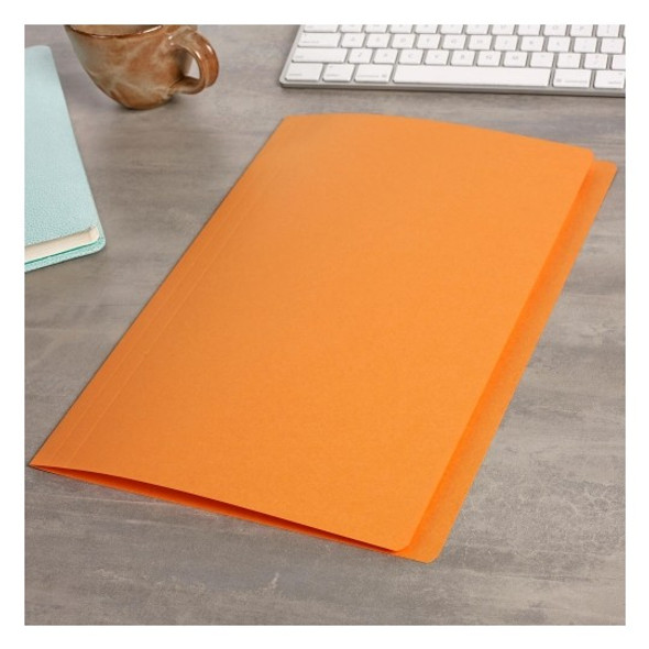 Avery 81572  Manilla Folders Foolscap Orange Box 100