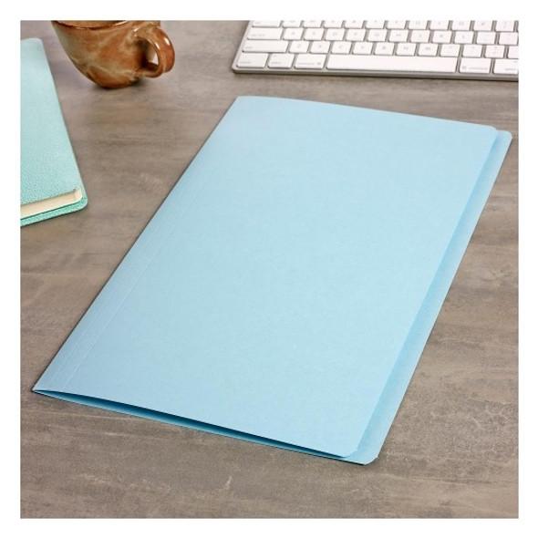 Avery 81582 Manilla Folders Foolscap Light Blue Box 100