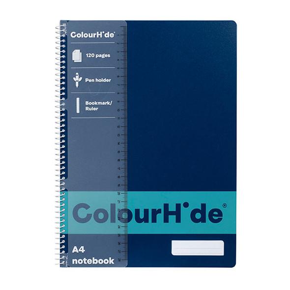 Colourhide 1719427J Notebook A4 120pg Navy