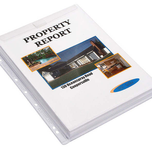 Cumberland Sheet Protectors 200 Micron  A4 Clear PVC Pack 10