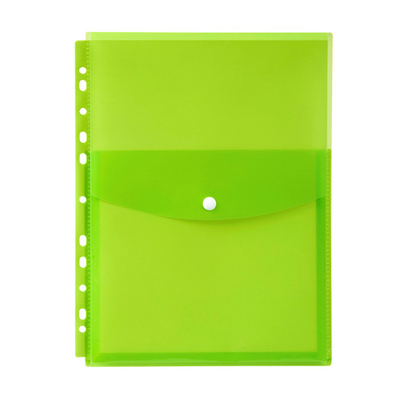 Marbig Binder Wallet A4 Top Open Lime