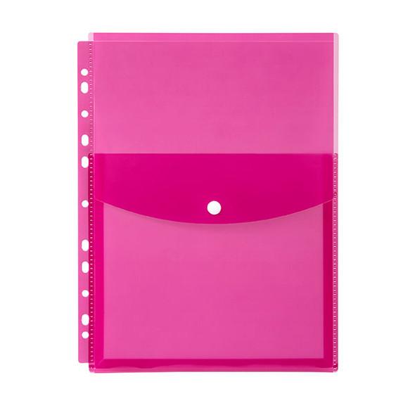 Marbig Binder Wallet A4 Top Open Pink