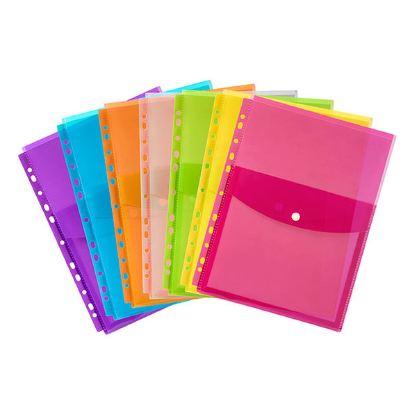 Marbig Binder Wallet A4 Top  Pack 4 Assorted Colours