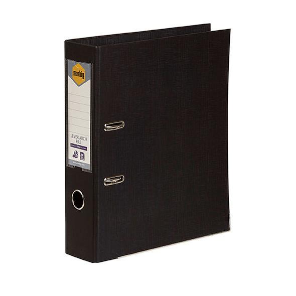 Marbig Lever Arch File PE A4 Black