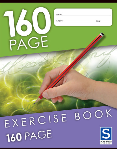 Exercise Book Sovereign 225x175mm 8mm Ruled 160Pg