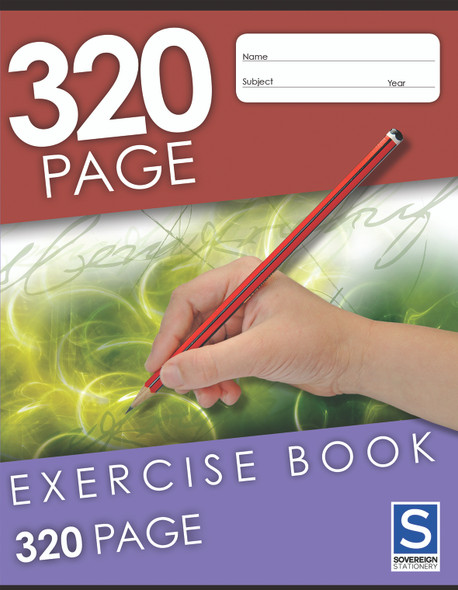 Exercise Book Sovereign 225x175mm 8mm Ruled 320pg