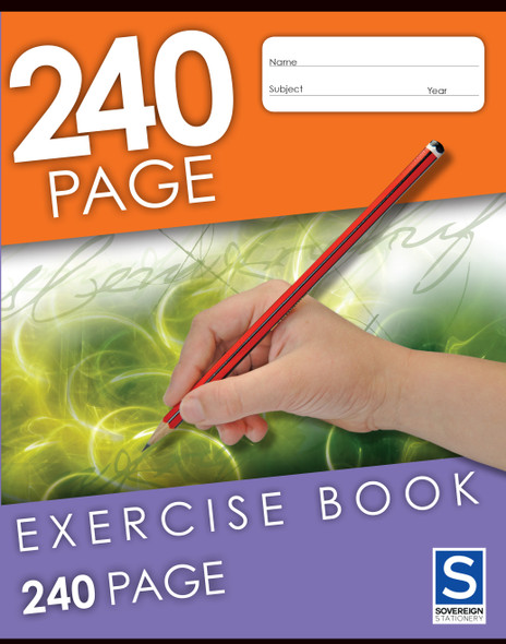 Exercise Book Sovereign 225x175mm 8mm Ruled 240pg