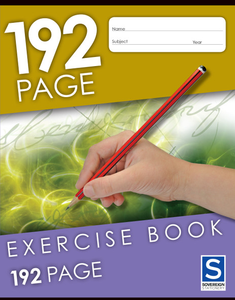 Exercise Book Sovereign 225x175mm 8mm Ruled 192pg