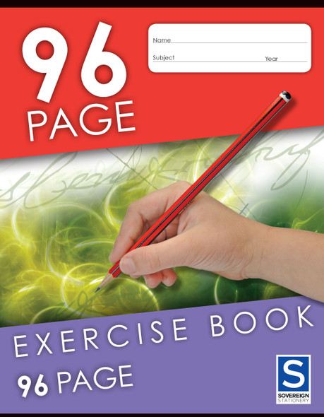Exercise Book Sovereign 225x175mm 8mm Ruled 96pg