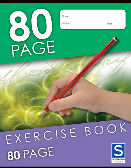 Exercise Book Sovereign 225x175mm 8mm Ruled 80pg