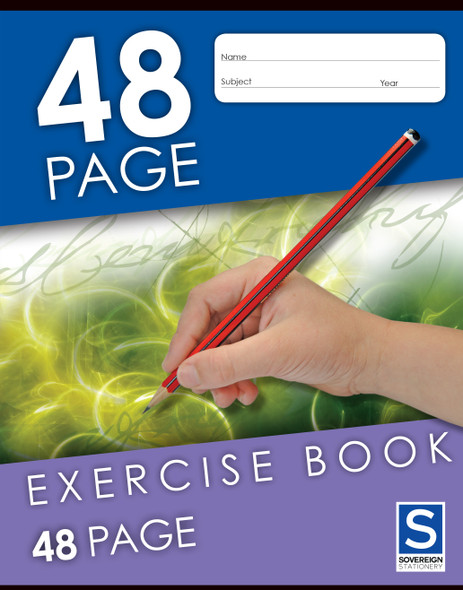 Exercise Book Sovereign 225x175mm 8mm Ruled 48pg