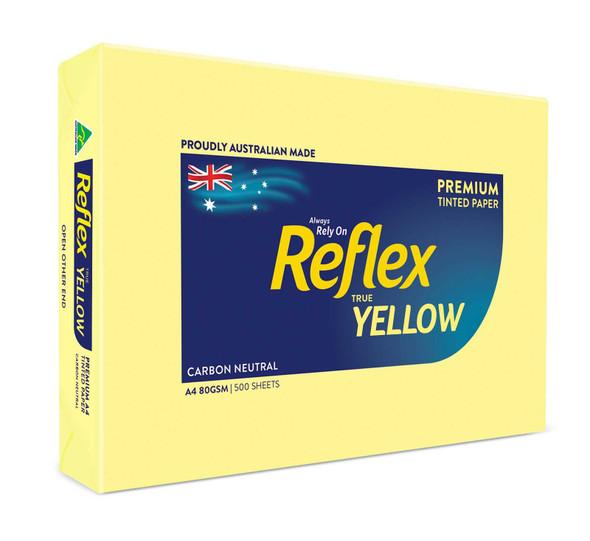 Reflex Colours 80gsm A4 Copy Paper Yellow 500 Sheets