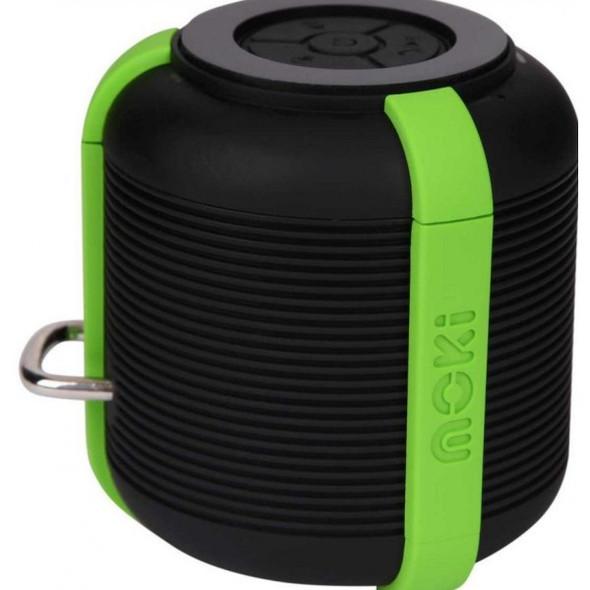Moki AquaBass Waterproof Bluetooth Black and Green Speaker