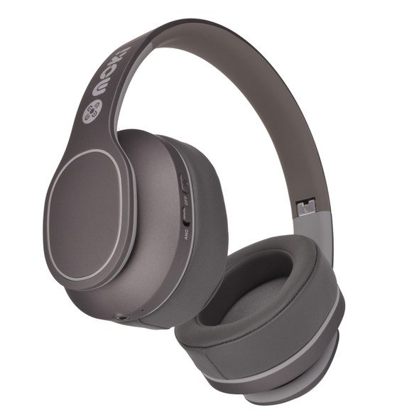 Moki Navigator Headphones Noise Cancellation Volume Limited 89dB Grey