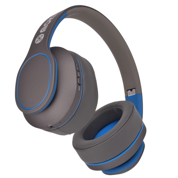 Moki Navigator Headphones Noise Cancellation Volume Limited 89dB Blue