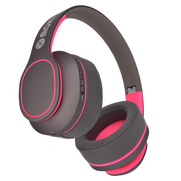 Moki Navigator Headphones Noise Cancellation Volume Limited 89dB Pink