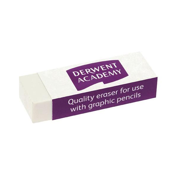 Derwent Academy Eraser Large Shrink Wrapped