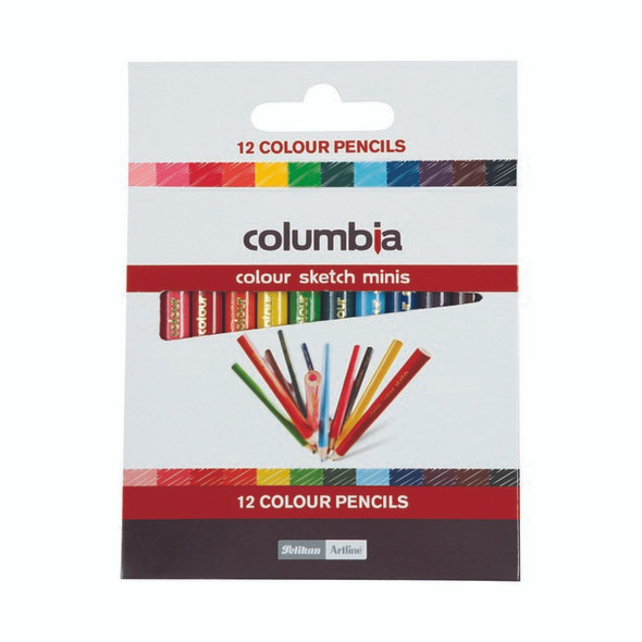 Columbia Coloursketch Colour Pencils Round Half Length Pack 12