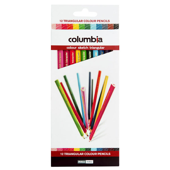 Columbia Coloursketch Colour Pencils Triangular  Pack 12