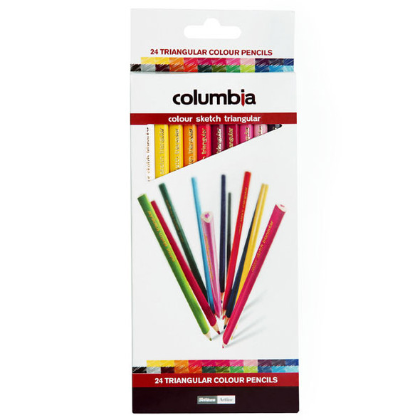Columbia Coloursketch Colour Pencils Triangular Pack 24