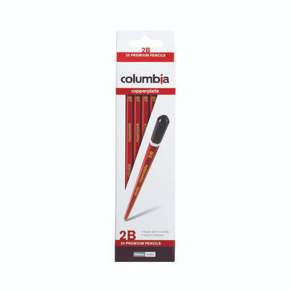 Columbia Copperplate Lead Pencil Hexagonal 2B Box 20