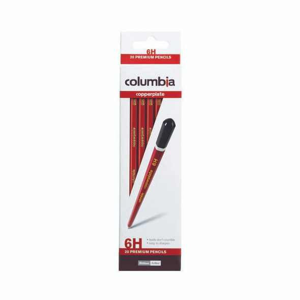 Columbia Copperplate Lead Pencil Hexagonal 6H Box 20