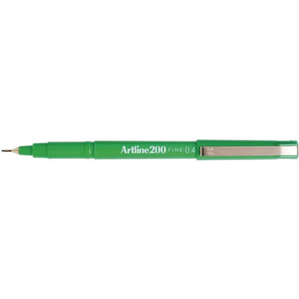 Artline 200 Fineliner Pen 0.4mm Green