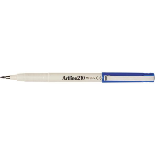 Artline 210 Fineliner Pen 0.6mm Blue