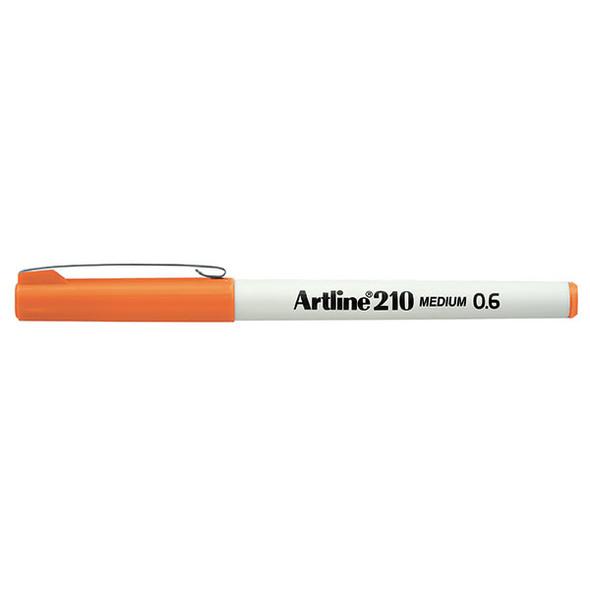 Artline 210 Fineliner Pen 0.6mm Orange