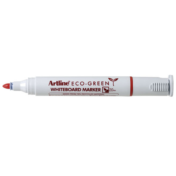 Artline 527 Eco Whiteboard Marker 2mm Bullet Nib Red