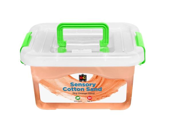 Educational Colours Sensory Cotton Sand 2kg Orange