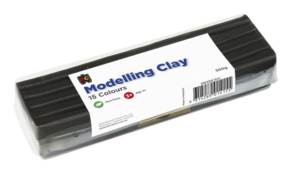 Modelling Clay 500gm Black Cello Wrapped