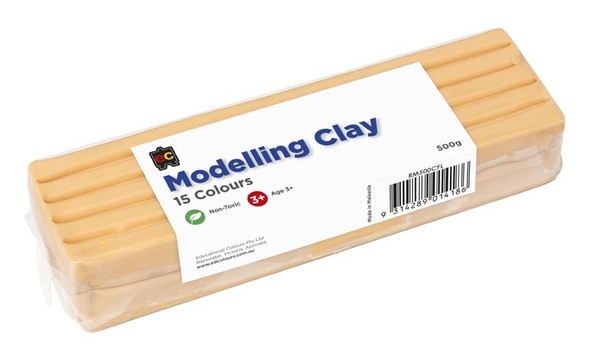 Modelling Clay 500gm Black Flesh Wrapped
