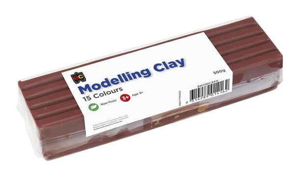 Modelling Clay 500gm Brown Cello Wrapped