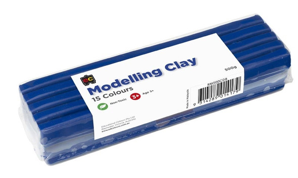 Modelling Clay 500gm Dark Blue Cello Wrapped