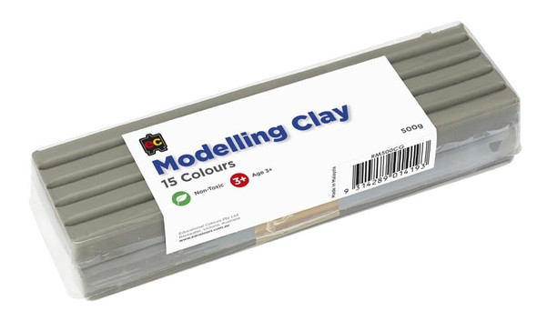 Modelling Clay 500gm Grey Flesh Cello  Wrapped