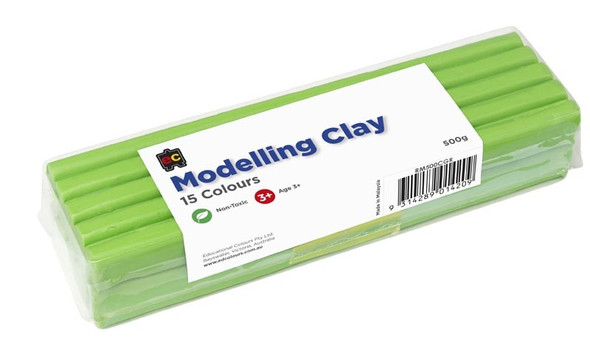 Modelling Clay 500gm Grey Light Green Cello Wrapped