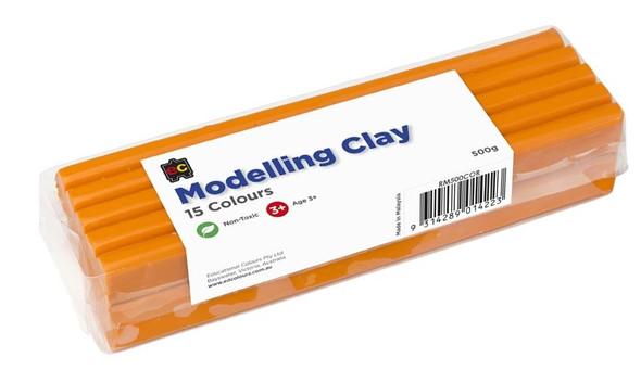Modelling Clay 500gm Orange Cello Wrapped